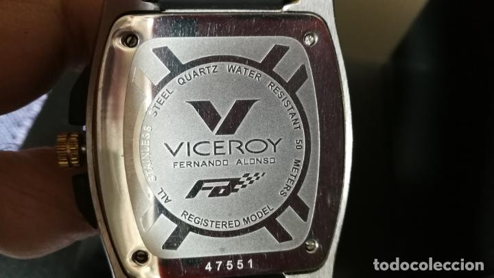 Relojes automáticos: Una leyenda de reloj deportivo ,de quartz, Viceroy colección Fernando Alonso F1, GRANDE,precioso - Foto 19 - 158473950