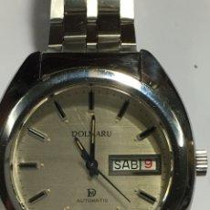 Relojes automáticos: RELOJ DOLMARU AUTOMÁTIC EN ACERO COMPLETO TODO ORIGINAL COMO NUEVO EN FUNCIONAMIENTO. Lote 159930876