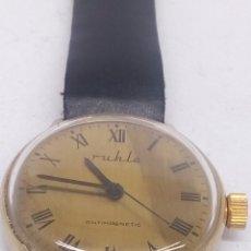 Relojes automáticos: RELOJ RUHLA CARGA MANUAL MADE IN GDR PARA COLECCIONISTAS. Lote 207012138