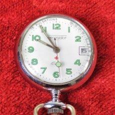 Relojes automáticos: RELOJ DE BOLSILLO. THERMIDOR.METAL. A PILAS. FRANCIA. SIGLO XX. Lote 160267386