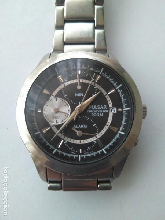 1abb7eb55 RELOJ SEIKO PULSAR CHRONOGRAPH ALARM DATE 100 M FUNCCIONANDO CORRECTAMENTE ( Relojes - Relojes Automáticos)