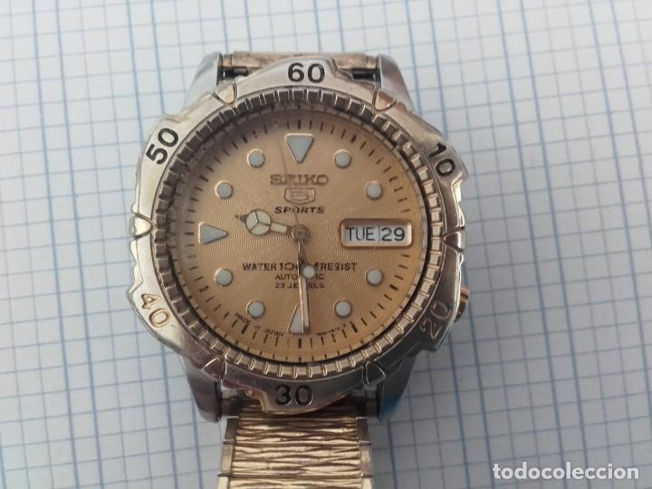 SEIKO 5 SPORTS 100M 7S36 0180 AUTOMATICO PARA CABALLERO FUNCIONANDO (Relojes - Relojes Automáticos)