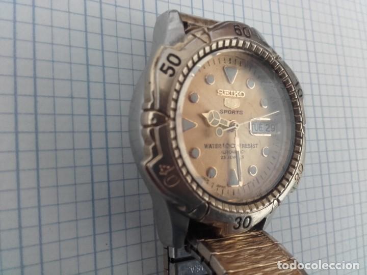 Relojes automáticos: Seiko 5 Sports 100m 7S36 0180 automatico para caballero funcionando - Foto 2 - 160572442
