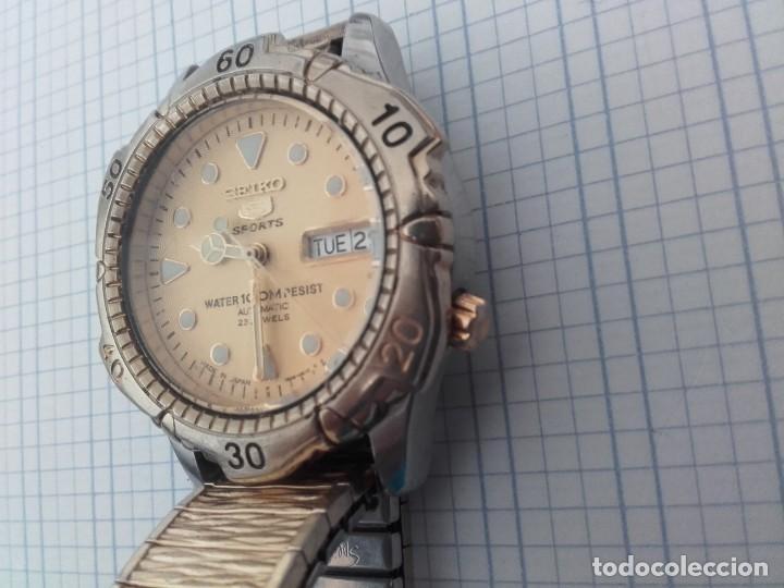 Relojes automáticos: Seiko 5 Sports 100m 7S36 0180 automatico para caballero funcionando - Foto 3 - 160572442