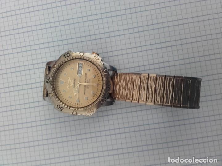 Relojes automáticos: Seiko 5 Sports 100m 7S36 0180 automatico para caballero funcionando - Foto 5 - 160572442