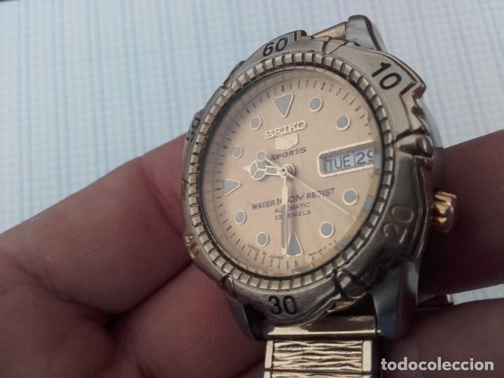 Relojes automáticos: Seiko 5 Sports 100m 7S36 0180 automatico para caballero funcionando - Foto 7 - 160572442