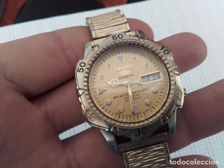 Relojes automáticos: Seiko 5 Sports 100m 7S36 0180 automatico para caballero funcionando - Foto 8 - 160572442