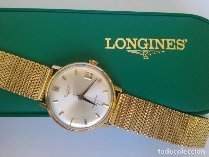 Relojes automáticos: RELOJ LONGINES EN ORO MACIZO DE 18 KILATES/750mm AUTOMATICO Y ANTIGUO - Foto 17 - 160898566