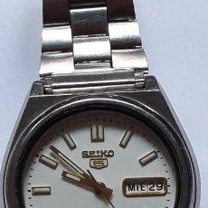 Relojes automáticos: RELO DE PULSERA CABALLERO AUTOMATICO SEIKO 5, FUNCIONA Y BUEN ESTADO. Lote 161076198