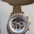 Relojes automáticos: IMPORTANTE RELOJ JOYA DE SEÑORA INFINITY ORO 18K Y SWAROVSKI. OBRA MAESTRA! GALERÍA COLECCIONISTA.. Lote 161182540