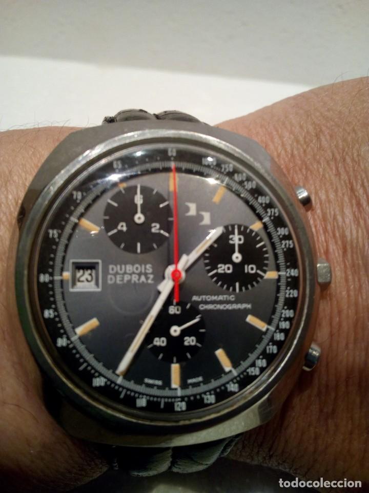 Relojes automáticos: Reloj Dubois Depraz Crhono manufactura años 70 Raro - Foto 2 - 161457954