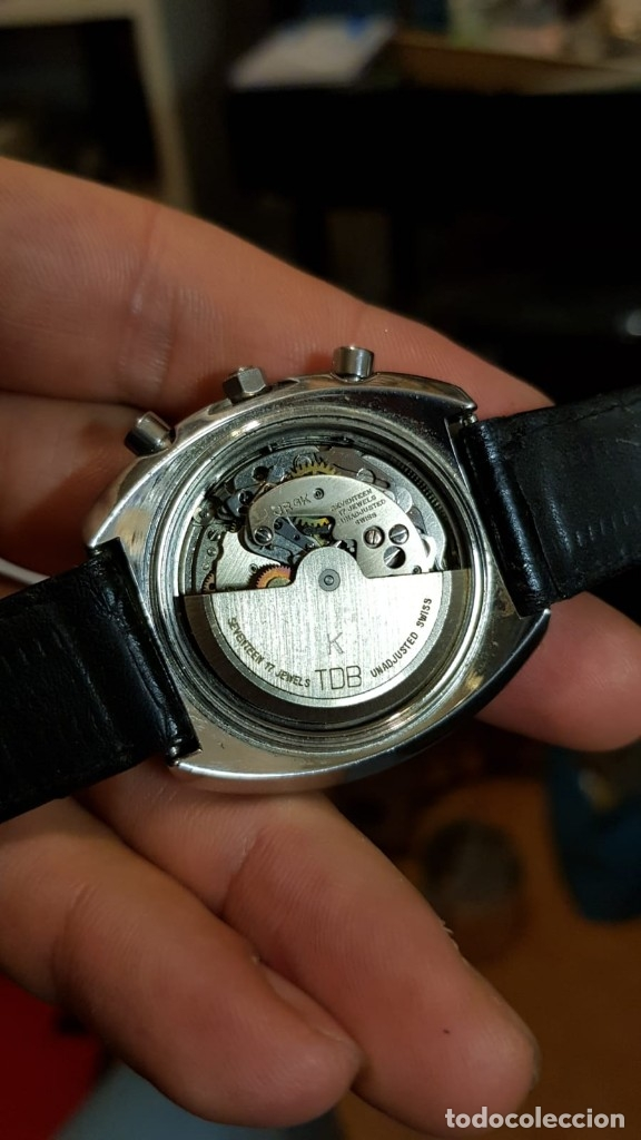Relojes automáticos: Reloj Dubois Depraz Crhono manufactura años 70 Raro - Foto 7 - 161457954
