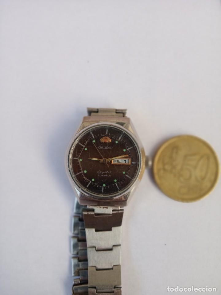 ORIENT CRYSTAL AUTOMATICO 21 JEWELS 1980 ANTIGUO, TODO DE ACERO (Relojes - Relojes Automáticos)