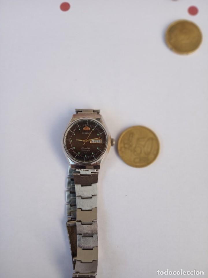 Relojes automáticos: ORIENT CRYSTAL AUTOMATICO 21 JEWELS 1980 ANTIGUO, TODO DE ACERO - Foto 2 - 161864762