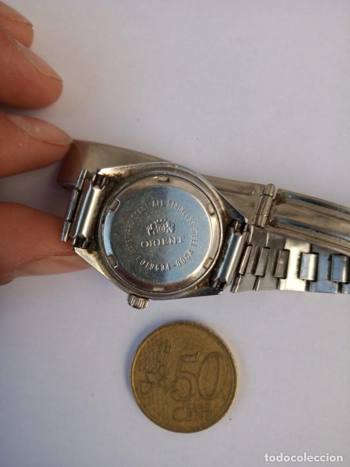 Relojes automáticos: ORIENT CRYSTAL AUTOMATICO 21 JEWELS 1980 ANTIGUO, TODO DE ACERO - Foto 3 - 161864762