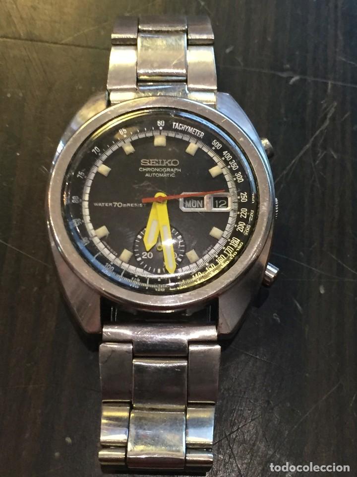 Relojes automáticos: RELOJ SEIKO CHRONO AUTOMATICO MODELO 6139-7020 DE LOS AÑOS 70 - Foto 2 - 162341046