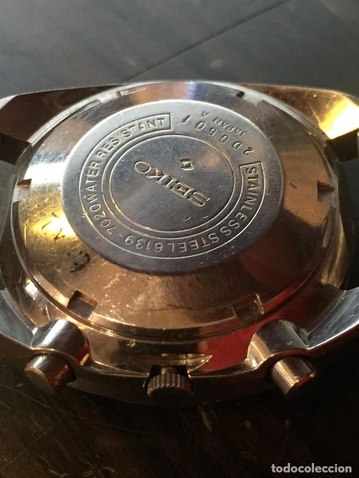 Relojes automáticos: RELOJ SEIKO CHRONO AUTOMATICO MODELO 6139-7020 DE LOS AÑOS 70 - Foto 6 - 162341046