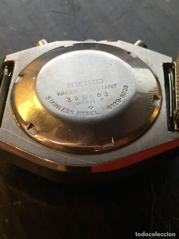 Relojes automáticos: RELOJ SEIKO CHRONO AUTOMATICO MODELO 6139-8020 DE LOS AÑOS 70 - Foto 5 - 162341410