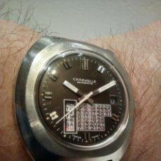 Relojes automáticos: RARO RELOJ CARAVELLE BULOVA AÑOS 70 CALENDARIO DIA SEMANA MENSUAL Y FECHA. Lote 162642150