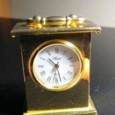 Relojes automáticos: RELOJ MINIATURA DORADO. Lote 162783421