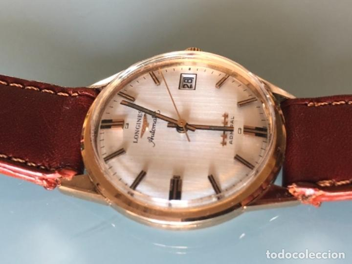 Relojes automáticos: RELOJ LONGINES ADMIRAL 5 ESTRELLAS ORO DE 18 QUILATES AÑOS 70 - Foto 2 - 163039442