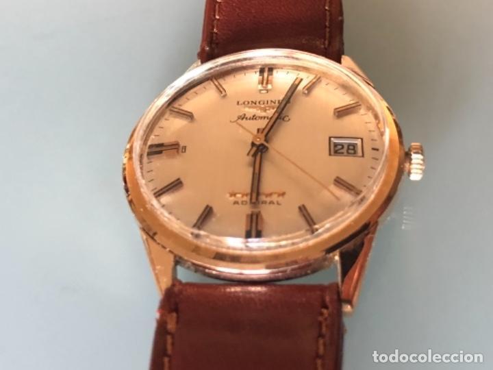 Relojes automáticos: RELOJ LONGINES ADMIRAL 5 ESTRELLAS ORO DE 18 QUILATES AÑOS 70 - Foto 3 - 163039442