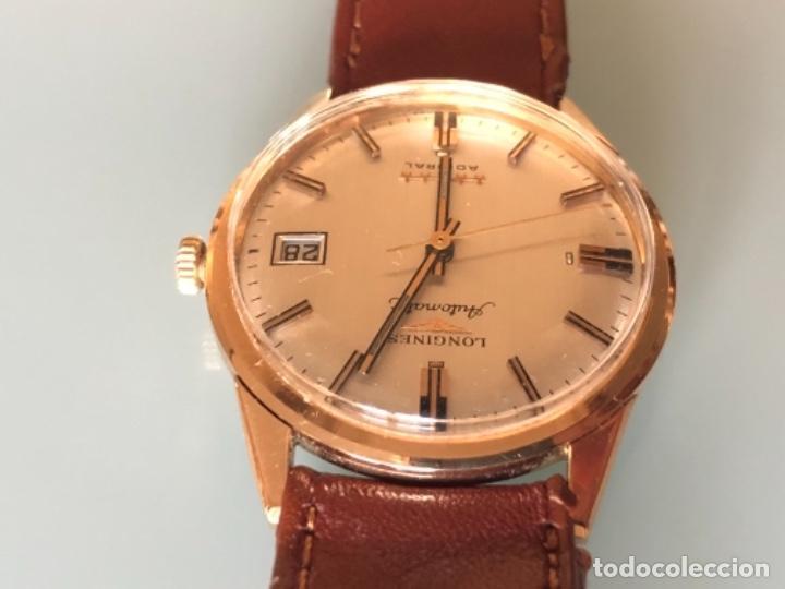 Relojes automáticos: RELOJ LONGINES ADMIRAL 5 ESTRELLAS ORO DE 18 QUILATES AÑOS 70 - Foto 4 - 163039442