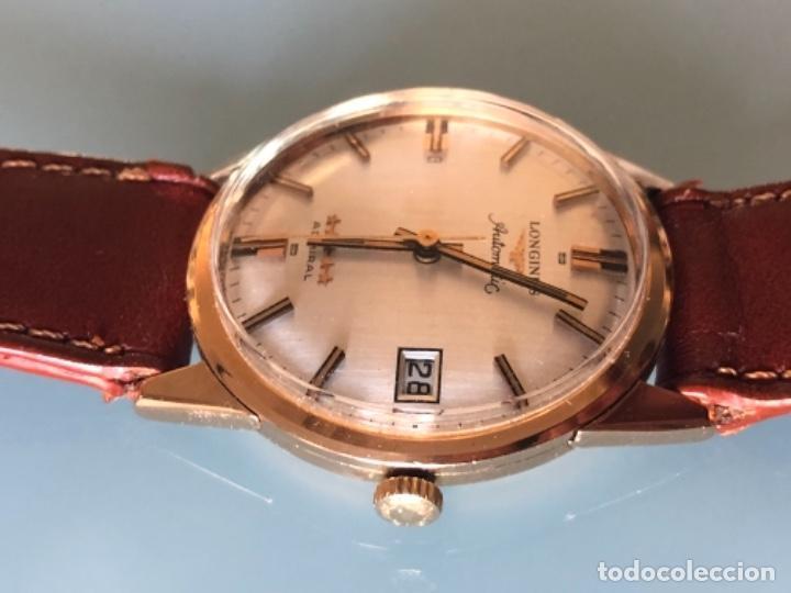 Relojes automáticos: RELOJ LONGINES ADMIRAL 5 ESTRELLAS ORO DE 18 QUILATES AÑOS 70 - Foto 5 - 163039442