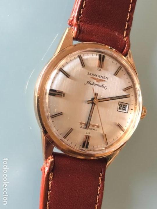 Relojes automáticos: RELOJ LONGINES ADMIRAL 5 ESTRELLAS ORO DE 18 QUILATES AÑOS 70 - Foto 7 - 163039442