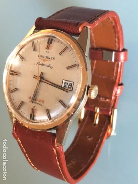 Relojes automáticos: RELOJ LONGINES ADMIRAL 5 ESTRELLAS ORO DE 18 QUILATES AÑOS 70 - Foto 11 - 163039442