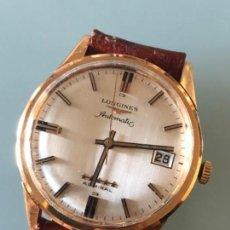 Relojes automáticos: RELOJ LONGINES ADMIRAL 5 ESTRELLAS ORO DE 18 QUILATES AÑOS 70. Lote 163039442