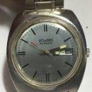 Relojes automáticos: RELOJ DUWARD AUTOMÁTICO EN ACERO COMPLETO MAQUINARIA SWISS MADE AS 2066 EN FUNCIONAMIENTO. Lote 165379602