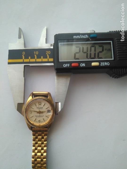 Relojes automáticos: Reloj SICURA 17 JEWELS SHOCKRESISTANT AUTOMATIC DATE SWISS MADE FUNCIONA PERFECTAMENTE - Foto 4 - 163909926