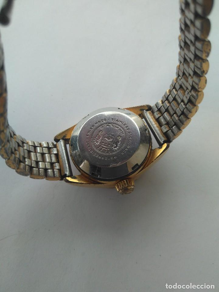 Relojes automáticos: Reloj SICURA 17 JEWELS SHOCKRESISTANT AUTOMATIC DATE SWISS MADE FUNCIONA PERFECTAMENTE - Foto 6 - 163909926