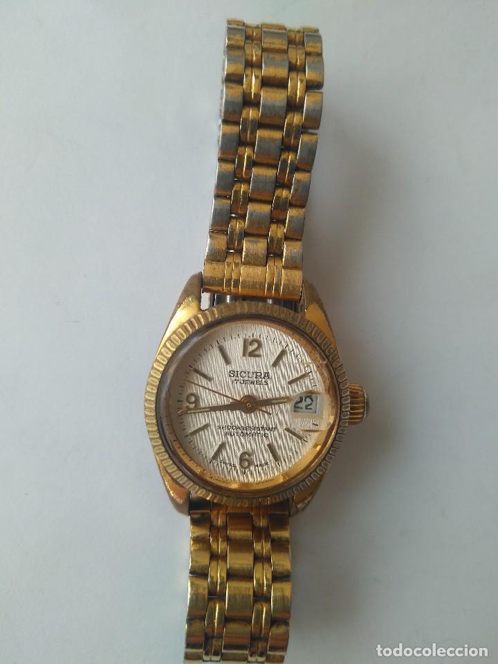 Relojes automáticos: Reloj SICURA 17 JEWELS SHOCKRESISTANT AUTOMATIC DATE SWISS MADE FUNCIONA PERFECTAMENTE - Foto 11 - 163909926