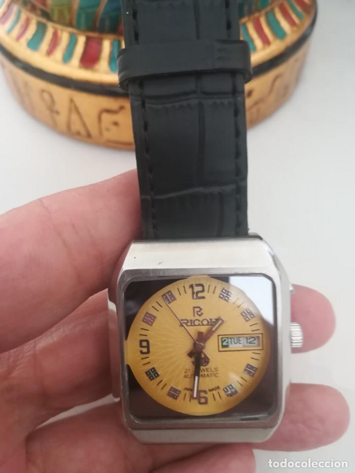 Relojes automáticos: VINTAGE RELOJ RICOH DEPORTIVO NUEVO AUTOMATICO DE LOS 70. . - Foto 3 - 163923318