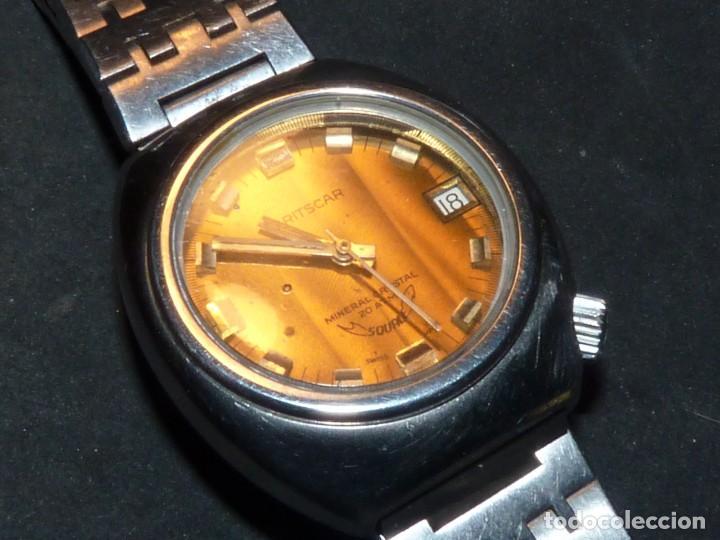 Relojes automáticos: RELOJ SQUALE Y154G BRITSCAR DIVER 20ATM VINTAGE CALIBRE ETA TODO ACERO - Foto 2 - 164974534