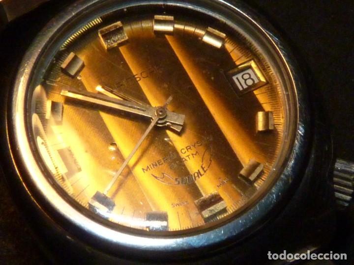 Relojes automáticos: RELOJ SQUALE Y154G BRITSCAR DIVER 20ATM VINTAGE CALIBRE ETA TODO ACERO - Foto 4 - 164974534