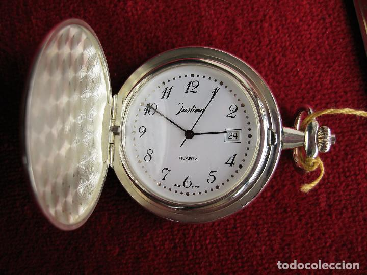 Relojes automáticos: RELOJ DE BOLSILLO JUSTINA DE PLATA DE LEY PUNZONADO - MADE IN SUIZA QUARTZ - Foto 3 - 165626718