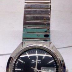 Relojes automáticos: RELOJ UNIPLEX AUTOMATICO CAJA DE ACERO MAQUINARIA SWISS EN FUNCIONAMIENTO. Lote 166120285