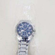 Relojes automáticos: ORLANDO RELOJ AUTOMÁTICO DE HUSO HORARIO CON BOTONES ORNAMENTALES ESFERA AZUL. Lote 167012588
