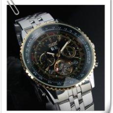Relojes automáticos: RELOJ DE PULSERA AUTOMÁTICO DE ACERO INOXIDABLE PARA HOMBRE MECÁNICO CON SU ESTUCHE Y FUNCIONA. Lote 160189230