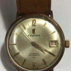 Relojes automáticos: RELOJ FESTINA AUTOMATICO CIRCLA 50 CHAPADO EN ORO. Lote 167949557