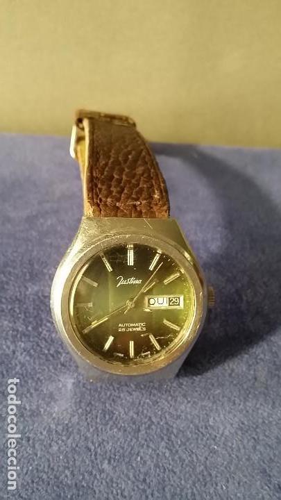 Relojes automáticos: RELOJ CABALLERO MARCA JUSTINA SUIZO AUTOMATICO 25 JEWELS - Foto 2 - 168149824