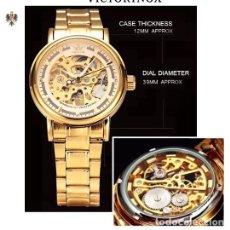 Relojes automáticos: RELOJ AUTOMÁTICO HOMBRE CAJA DE ACERO + CORREA ACERO. Lote 168286184