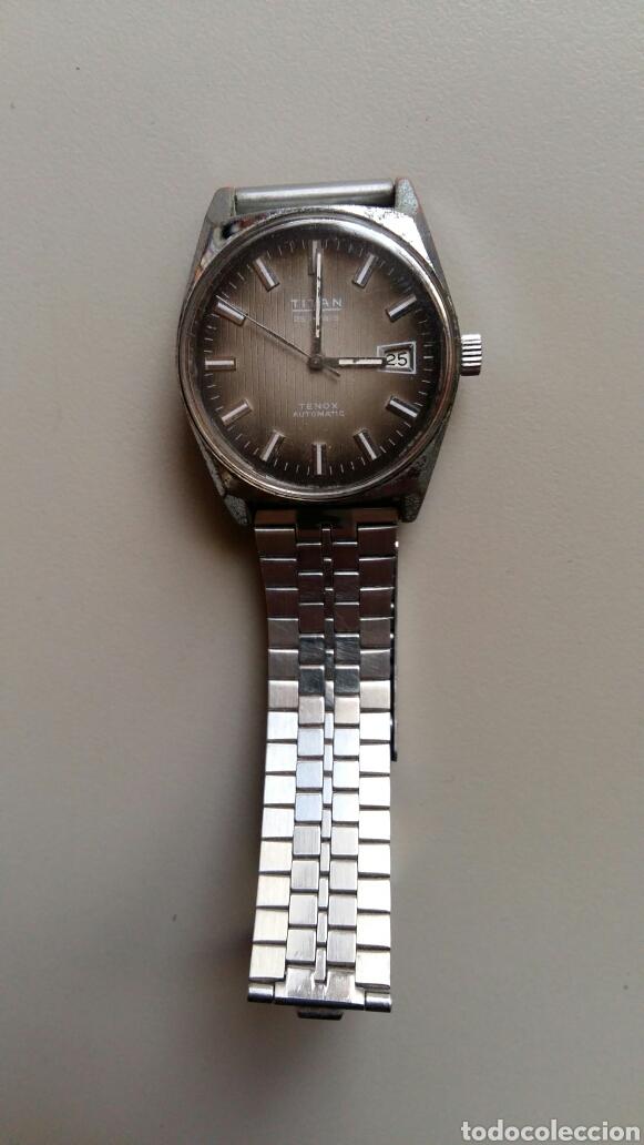 Relojes automáticos: Antiguo reloj Titan 25 rubis tenox automatic con pulsera metálica - Foto 2 - 169383352