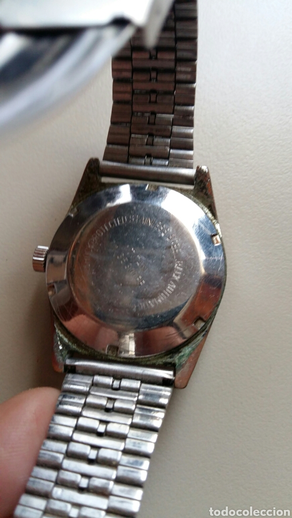 Relojes automáticos: Antiguo reloj Titan 25 rubis tenox automatic con pulsera metálica - Foto 3 - 169383352