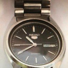 Relojes automáticos: RELOJ AUTOMÁTICO SEIKO N5 NEGRO EN ACERO FUNCIONABDO. Lote 170089542