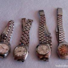 Relojes automáticos: LOTE DE 4 RELOJES JAPONESES AUTOMATICOS Y MECANICOS SEIKO CTZ ORIENT... F26. Lote 170334040