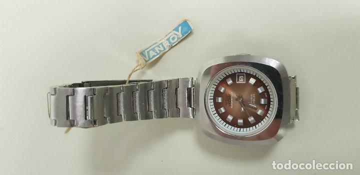 Relojes automáticos: J7- ANTIGO RELOJ VANROY AUTOMATIQUE 21 RUBIS INCABLOC SWISS MADE NUEVO ANTIGUO STOCK RELOJERIA N29 - Foto 2 - 170811360